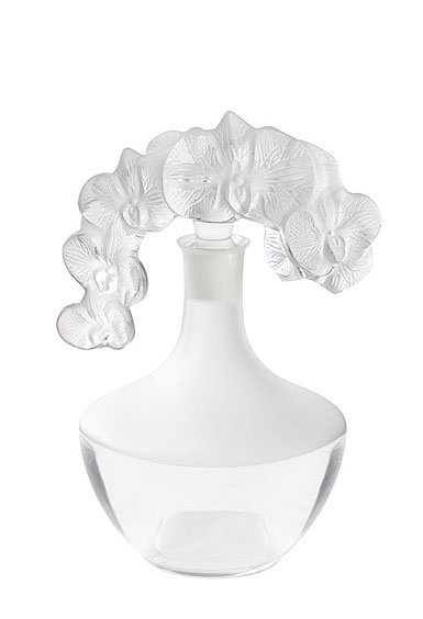 "Lalique Orchidee 11"" Decanter, Numbered Edition"