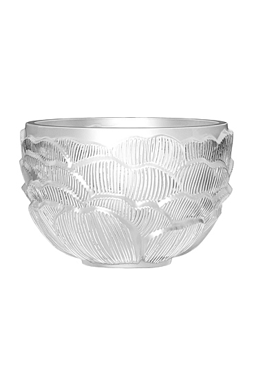 Lalique Photophore Pivoines Votive, Clear