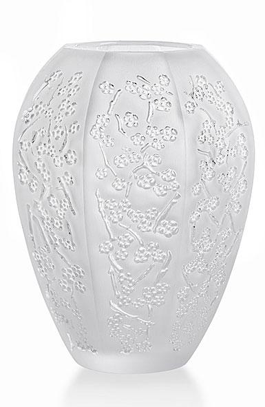 Lalique Sakura Medium Vase, Clear