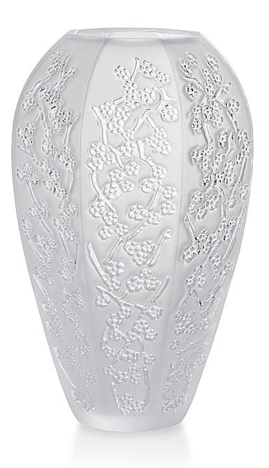"Lalique Sakura 7"" Vase, Clear"