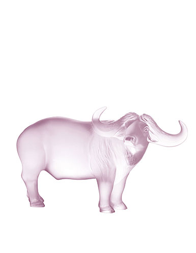 Lalique Zodiac Nam Buffalo Sculpture, Pink Luster, Limited Edition