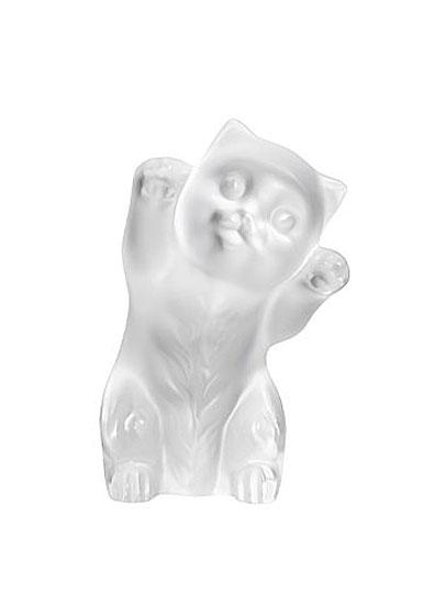 Lalique Kitten Sculpture, Clear