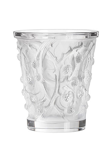 "Lalique Mures 10"" Vase, Clear"
