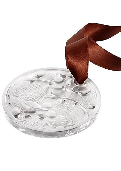 Lalique 2021 Annual Ornament, Merles et Raisins, Clear
