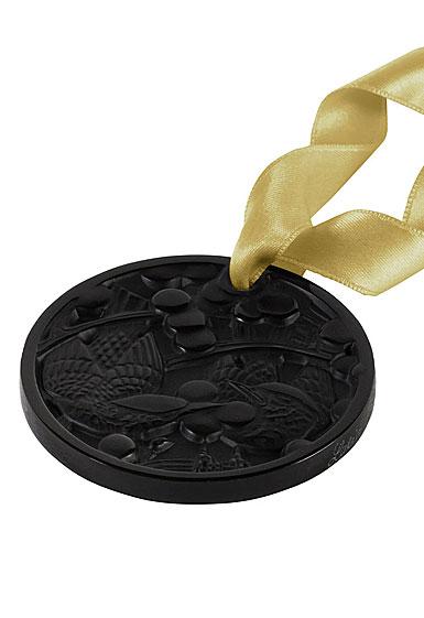 Lalique 2021 Annual Ornament, Merles et Raisins, Black