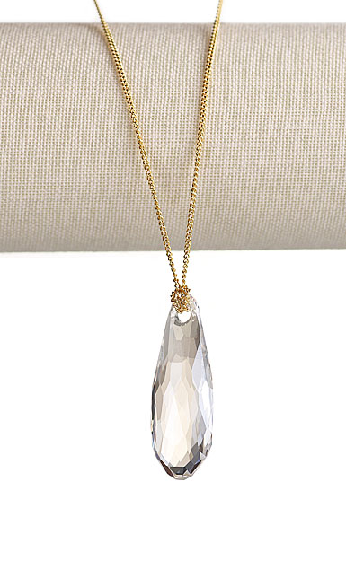 Swarovski Gold and Mini Clear Pure Pendant