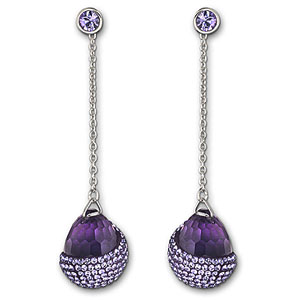 Swarovski Play Pierced Earrings, Tanzanite