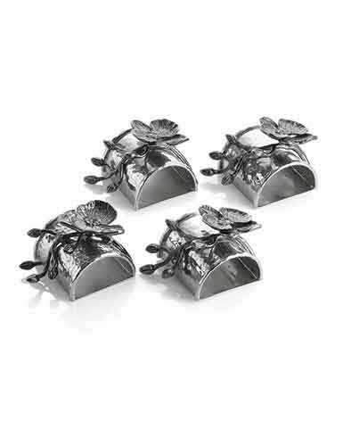 Michael Aram Black Orchid Napkin Ring, Set of 4