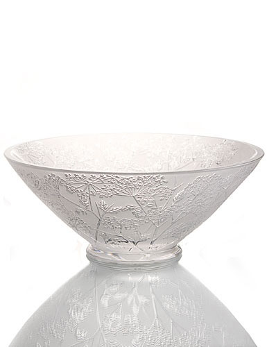 "Lalique Crystal, Umbels Ombelles 12"" Crystal Bowl"