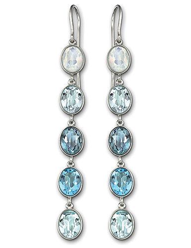 Swarovski Neva Pierced Earrings, Blue