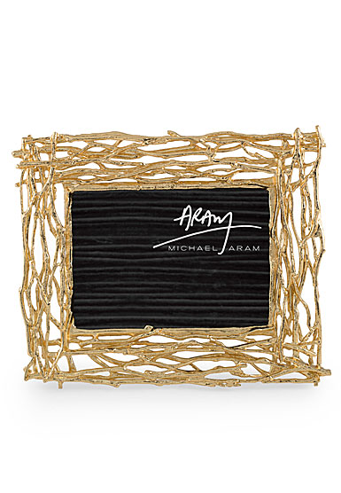 """Michael Aram Twig 4x6"""" or 5x7"""" Picture Frame, Gold"""