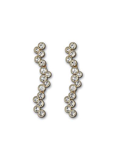 Swarovski Fidelity Pierced Earrings, Shiny Gold