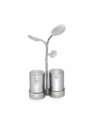 Michael Aram Botanical Salt and Pepper Set with Caddy