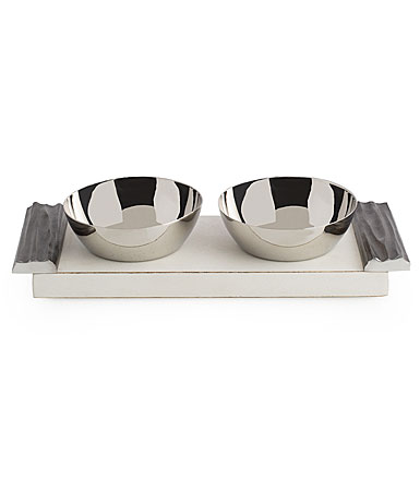 Michael Aram Driftwood Double Bowl Set