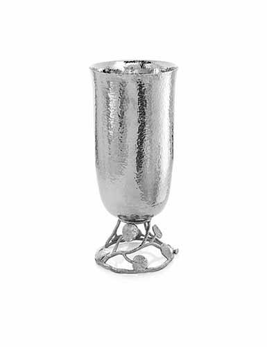 "Michael Aram Botanical Leaf 11"" Footed Vase"
