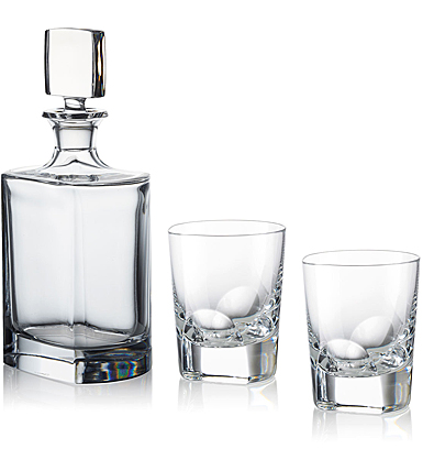 Rogaska Manhattan Decanter with DOF Pair