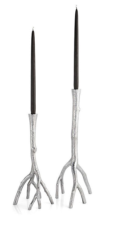 Michael Aram Enchanted Forest Candleholder Pair, Polished