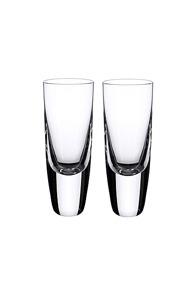 Villeroy and Boch American Bar Straight Bourbon Shot Tumbler Pair