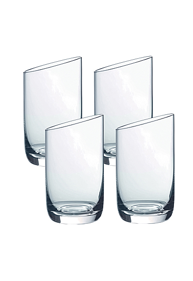 Villeroy and Boch NewMoon Juice Glass, Tumbler Set of Four