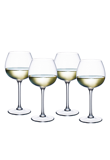 Villeroy and Boch Purismo Wine White Wine Soft and Rounded Set of 4