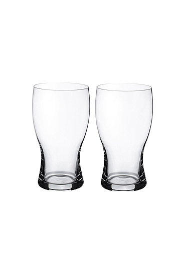 Villeroy and Boch Purismo Beer Pint Glass Pair