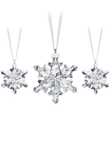 Swarovski Snowflake Ornaments, Set of 3, 2012