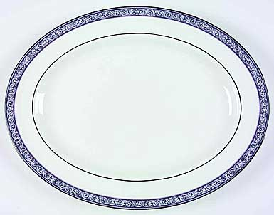 """Waterford China Westport 15 1/4"""" Oval Platter"""