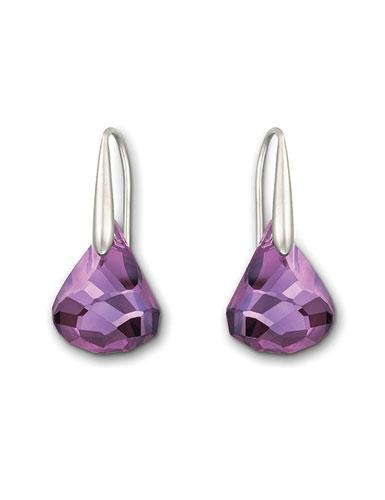 Swarovski Lunar Pierced Earrings, Amethyst Diamond Touch Light