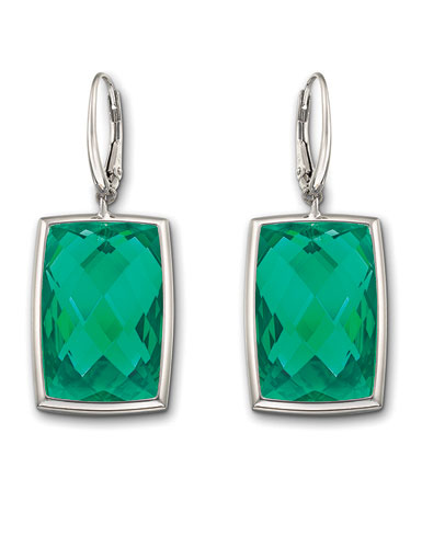 Swarovski Nirvana Pierced Earrings, Emerald