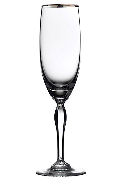 Marquis by Waterford Crystal Allegra Platinum Flute, Single