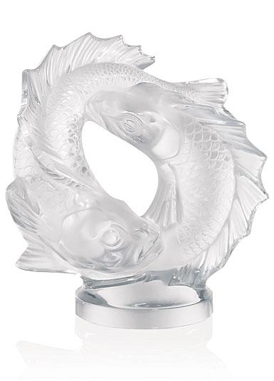 Lalique Crystal, Double Fish Sculpture