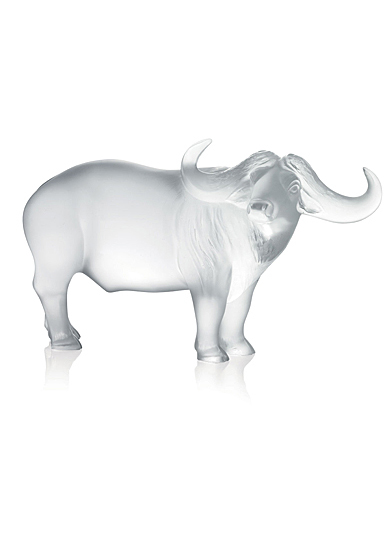 Lalique Zodiac Nam Buffalo Sculpture, Clear
