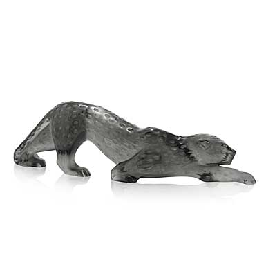 Lalique Crystal, Zeila Grey Panther Scultpure