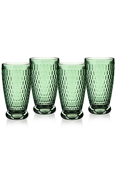 Villeroy and Boch Boston Colored Highball Green Set of 4
