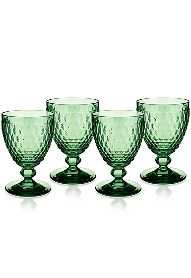 Villeroy and Boch Boston Colored Goblet Green Set of 4