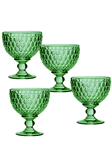 Villeroy and Boch Boston Colored Champagne, Dessert Bowl Green Set of 4