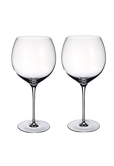 Villeroy and Boch Allegorie Premium Burgundy, Grand Cru Pair