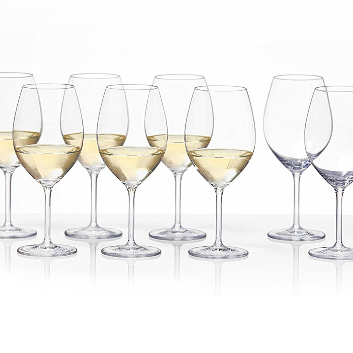 Schott Zwiesel Tritan Crystal, Forte Crystal White Wine Set 6 + 2 Free