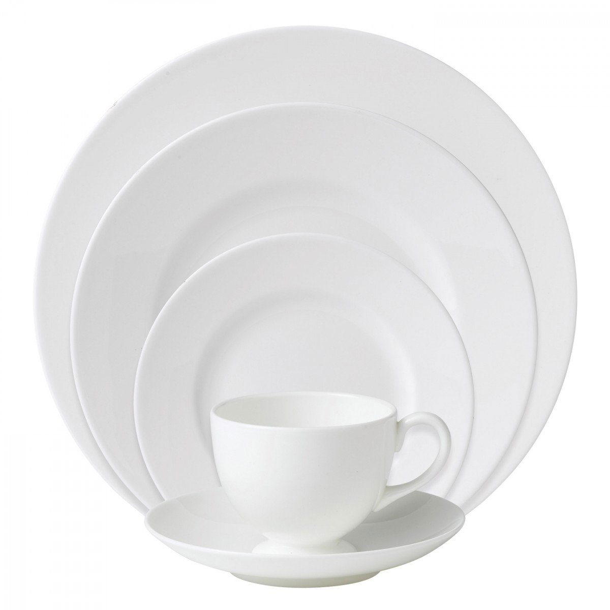 Wedgwood China White, 5 Piece Place Setting