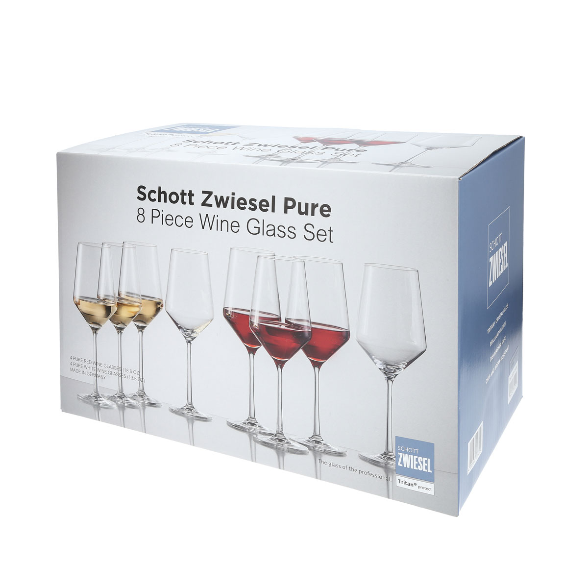 Schott Zwiesel Pure Red and White Wine Glasses Boxed Set 6+2 Free
