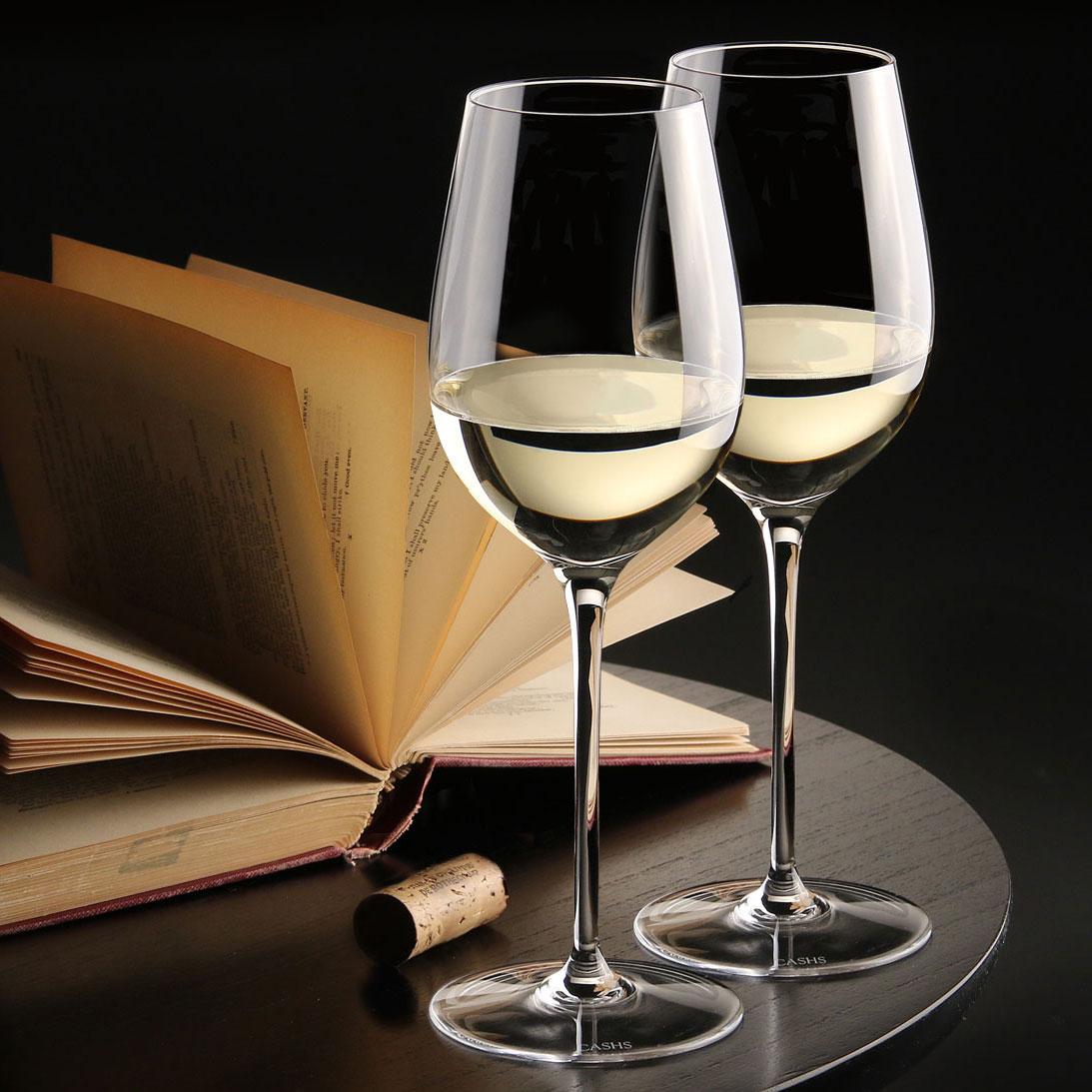 Cashs Ireland, Grand Cru Handmade, White Wine Crystal Glasses, Pair