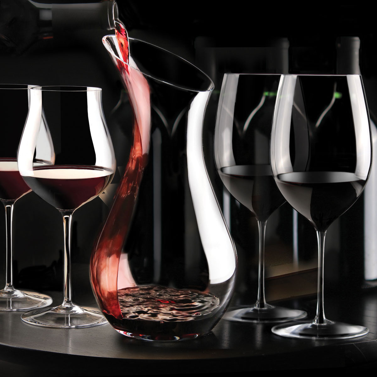 Cashs Ireland, Grand Cru Handmade, Pinot Noir Crystal Glasses, Pair