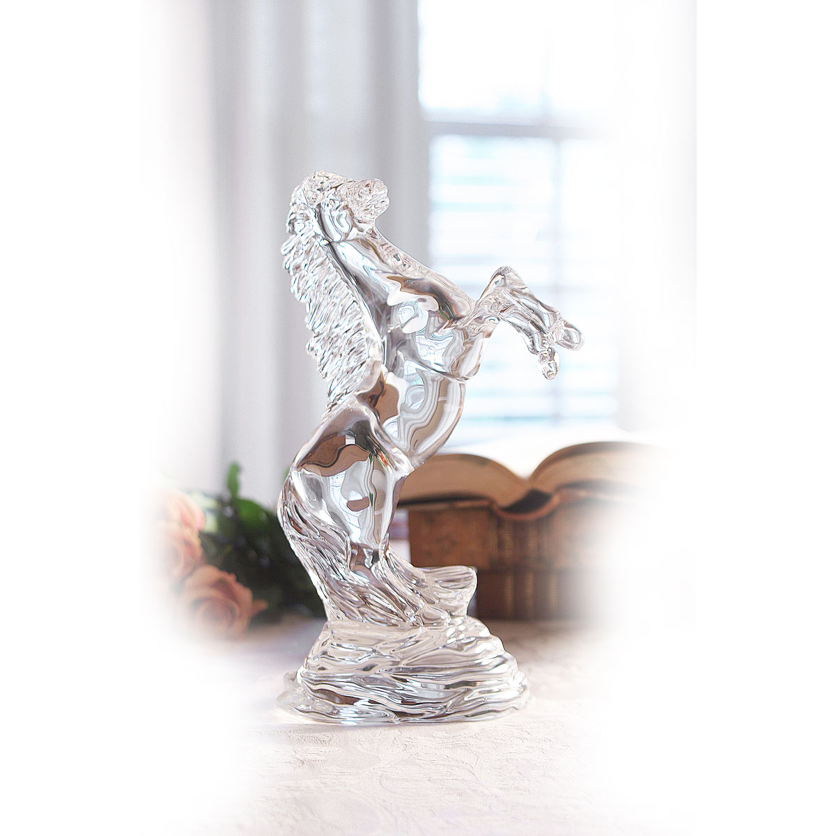Waterford Crystal, Rearing Horse Sculpture