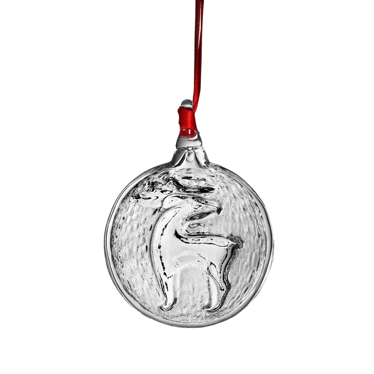 Steuben Reindeer Ornament