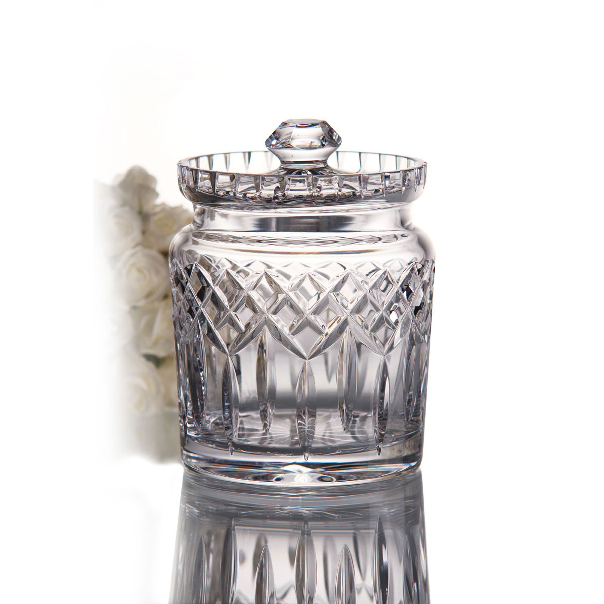 Waterford Lismore Crystal Biscuit Barrel with Lid