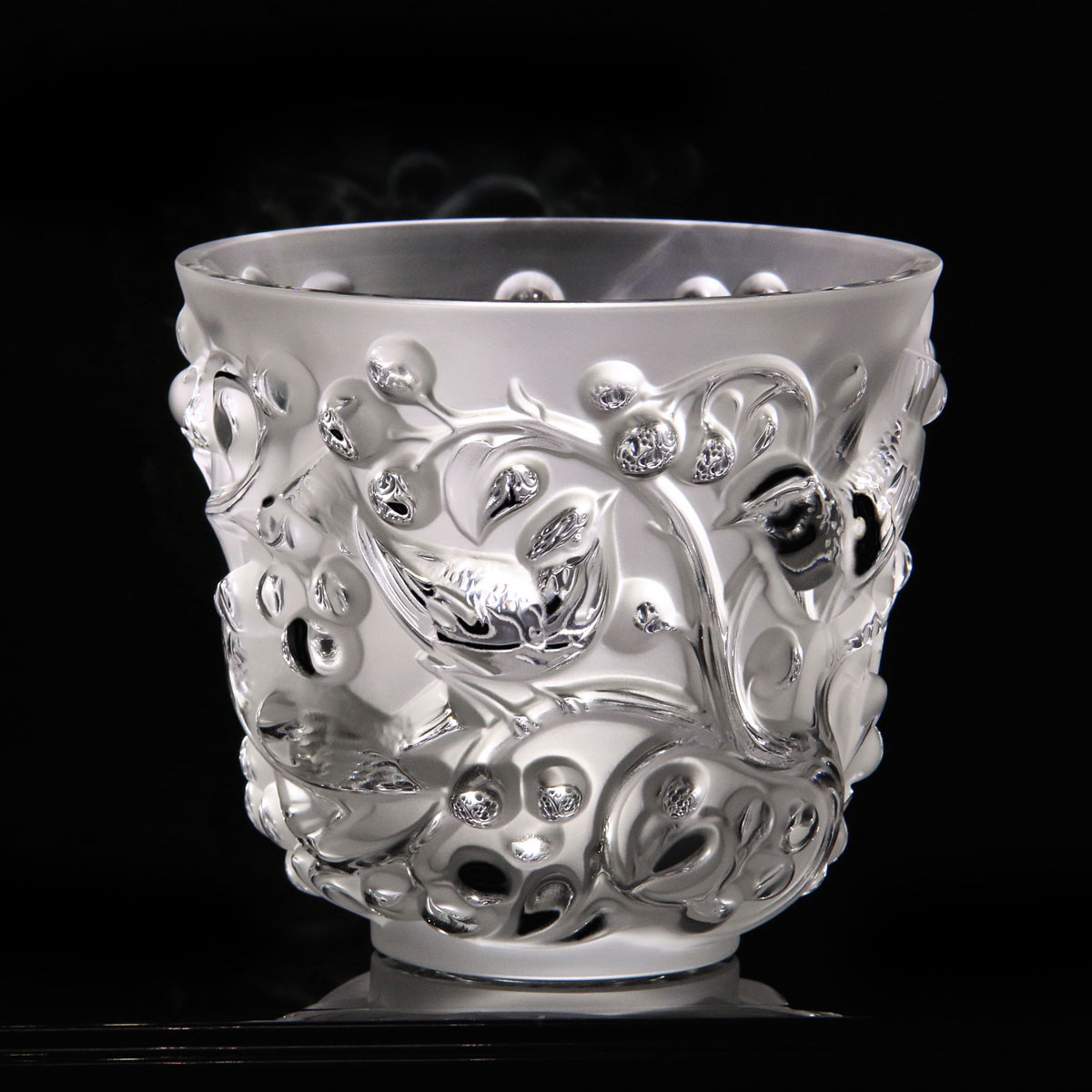 Lalique Crystal, Avallon Crystal Vase