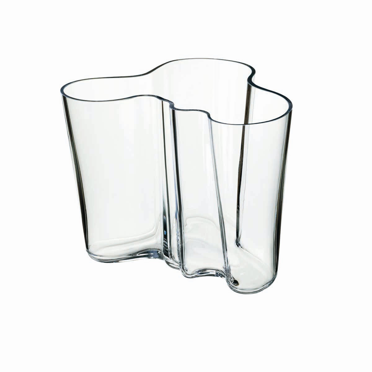 "Iittala Alvar Aalto 6 1/4"" Vase, Clear"