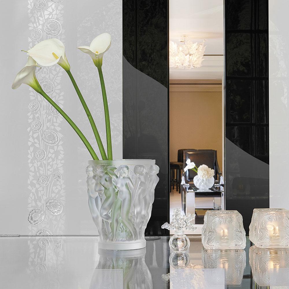 Lalique Masque De Femme Crystal Votive