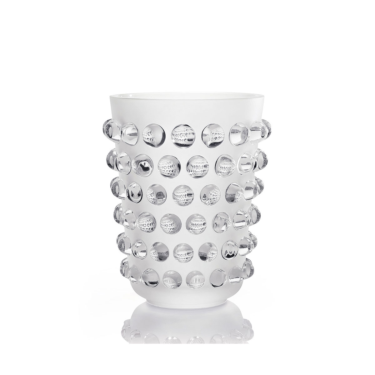 """Lalique Mossi XXL 12"""" Vase, Limited Edition"""