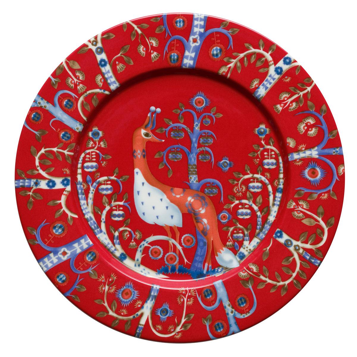 """Iittala Taika Salad Plate 8.75"""" Red"""